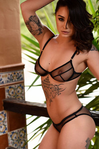 Mica Martinez In Black Lingerie