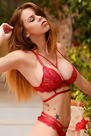 Jennifer Ann In Red Lingerie