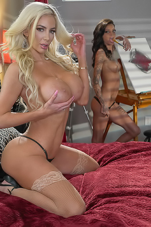Kimber Veils And Nicolette Shea Decides To Skip Dinner